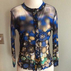 Petit Pois blue blouse sz M